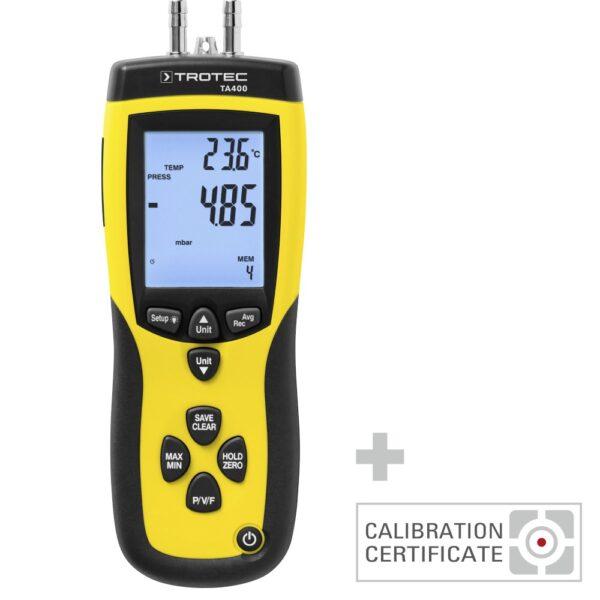 TA400 Dynamic pressure anemometer, incl. Cal. Certificate
