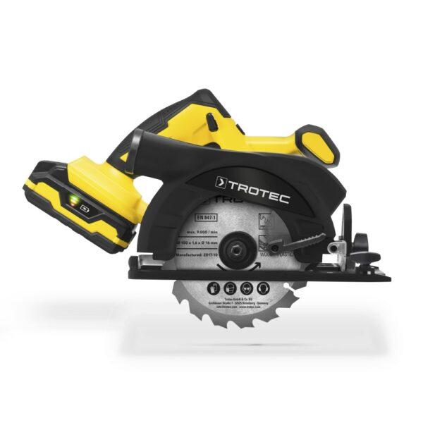 Cordless Hand Circular Saw PCSS 10-20V + Additional Battery Flexpower 20V 2,0 Ah