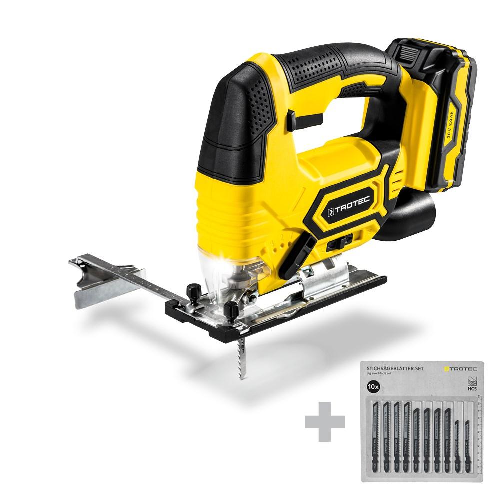 EcoIndustries Cordless Jigsaw PJSS 11-20V + 10-Piece Jigsaw Blade Set Wood (3)