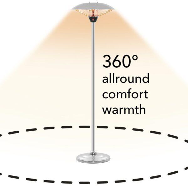 Design-standing radiant heater IRS 3020